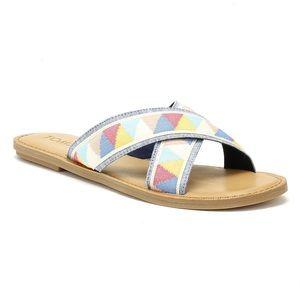 Toms Viv Multicolor Printed Sandal Slides